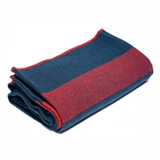 U.S. Cavalry Navy/Brick Red Wool Civil War Blanket
