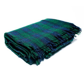 Blackwatch Tartan Wool Blanket