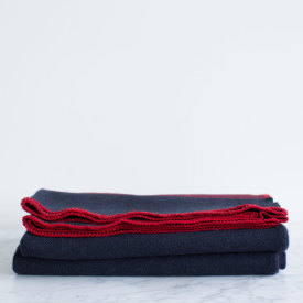 U.S. Cavalry Navy/Brick Red Wool Civil War Blanket