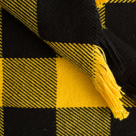 Black & Gold Cotton Stadium Blanket