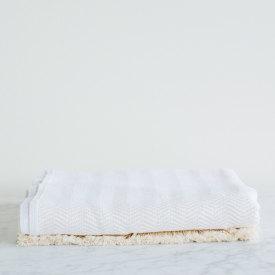 Natural Herringbone Cotton Blanket