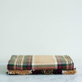 Wheat Stewart Tartan Cotton Throw