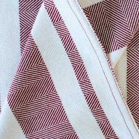 Chevron Multi Stripe Throw Burgundy