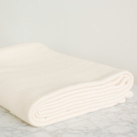 Solid Cream Chevron Bed Blanket