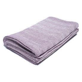 Plum/Natural Chevron Bed Blanket