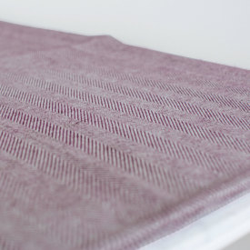 Plum/Natural Chevron Bed Blanket