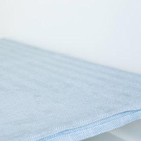 Pewter/Bleach White Chevron Bed Blanket