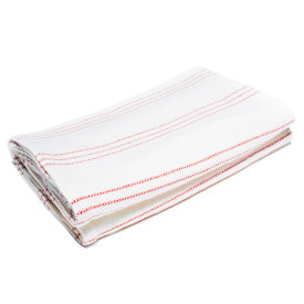 Red/Bleach/Natural Cotton Bed Blanket