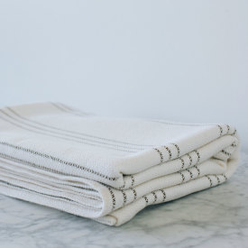 Brown/Bleach/Natural Cotton Bed Blanket