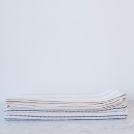 Navy/Bleach Cotton Bed Blanket