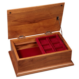 Amana Burl Top Treasure Chest