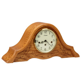 Amana Tambour Clock with Carving