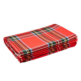 Royal Stewart Plaid Cotton Bed Blanket