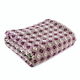Lily Cotton Throw - Plum/Natural