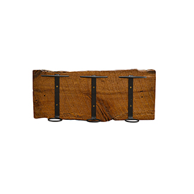 3 Wine Bottle Holder - Barn Wood