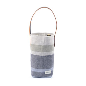 ECO2 Wine Tote South Stripe - Navy Marl