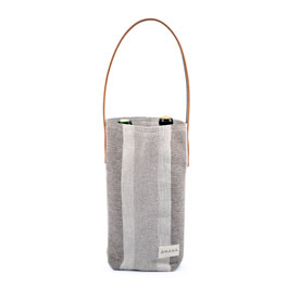 ECO2 Wine Tote Colony Stripe - Linen