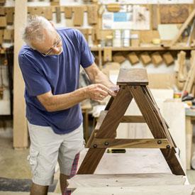 Walnut Mill Stool Table Height