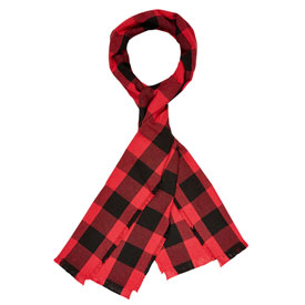 Buffalo Check Cotton Scarf - Red/Black