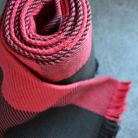 Red/Black Buffalo Check Cotton Scarf