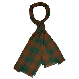 Buffalo Check Cotton Scarf - Brown/Hunter